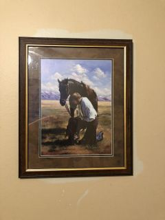 Home and garden party horse picture