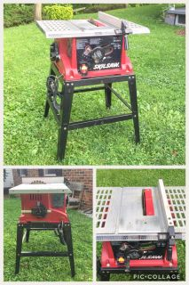 Skil 10 Table Saw w/Fitted Stand, works great, good condition, asking $75 (cost $179) **READ PICK-UP DETAILS BELOW