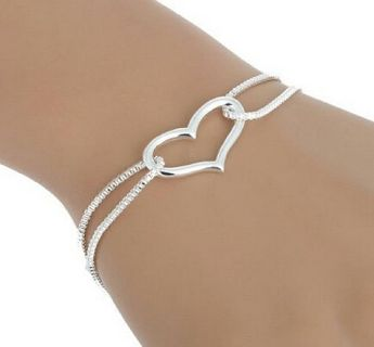 ***BRAND New 925 Sterling Silver Heart Love Bracelet***