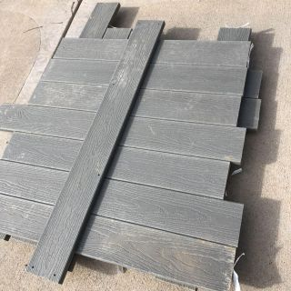 Lot of new 1 x6 Evergrain Composite Lumber- cape cod gray- more than enough for playhouse floor!- 25 pieces approx 42 long- firm pick up