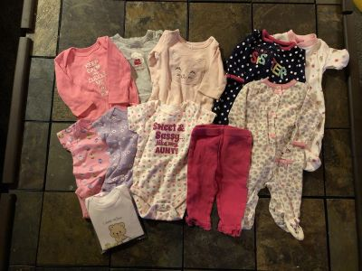 0-3 month lot of girls clothes
