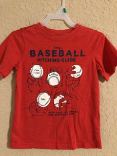 The Baseball Pitching Guide Red Short Sleeve Shirt. Nice Condition. Size 6