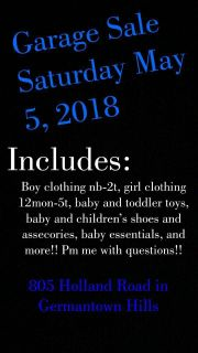 Garage Sale, Many baby and kids items!!