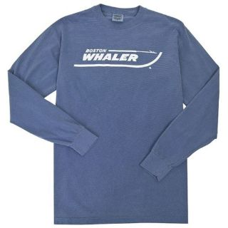 Purchase Boston Whaler Long Sleeve Comfort Color Tee, Color - Blue Jean, Size X-Large motorcycle in Millsboro, Delaware, United States, for US $27.41