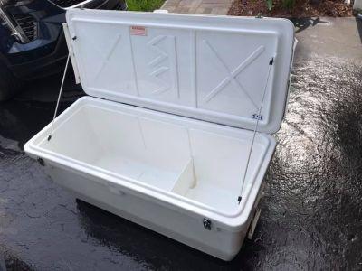 SOLD 200 QT SSI Cooler Coffin Box