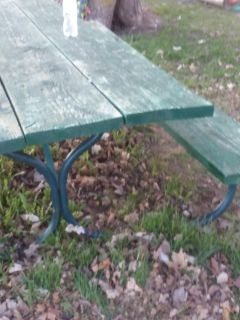 8 foot very heavy sturdy picnic table