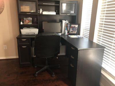 L shaped Computer desk and chair only