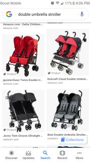 Iso double umbrella or light weight stroller