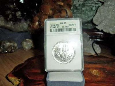 Exceptional a Very Rare 1925-P Stone Mountain Silver Commemorative Half Dollar M
