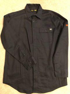 EUC CAT Fire Resistant Navy Work Shirt