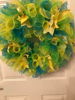 Summer Colors Wreath and southern Living Urn
