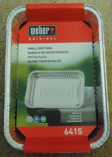 Weber Grill Small Drip Pans, pack of 10-NEW #6415