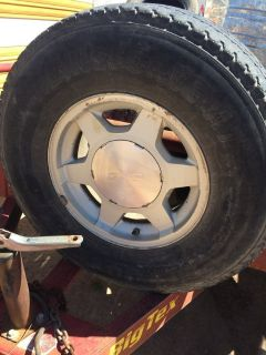 16 Stock GMC rims w tires