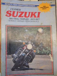 Buy 1972-77 Suzuki 380-750cc Triples Manual motorcycle in Richlandtown, Pennsylvania, United States, for US $24.99