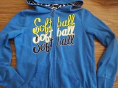 Justice softball zip-up jacket size 12