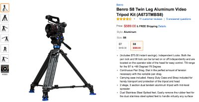 NEW! Benro S8 Video Tripod. Unopened still in the Box!