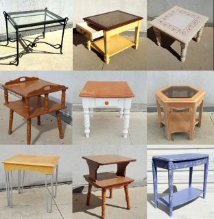 TABLE LIQUIDATION SALE! Single End Tables/Side Tables/Nightstands $15 EACH!