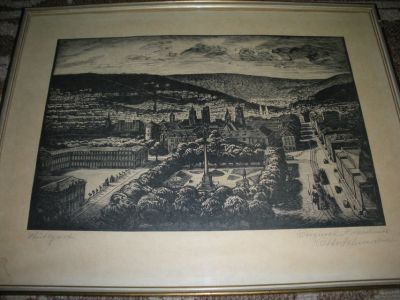 Antique Lithograph of Stuttgart Germany