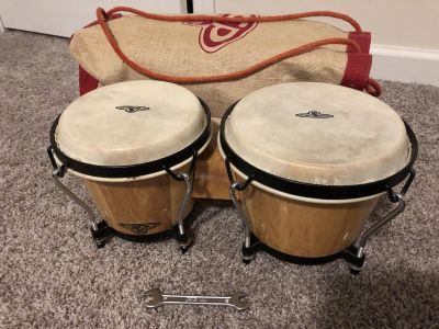 Cp lp bongos with bag and tool to tune. Nice set. Absolutely nothing wrong. $10 firm