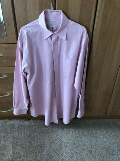 Brooks Brothers no iron Dress shirt - Pink 16.5 x 34