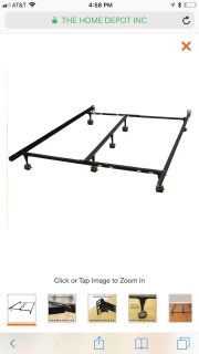 New in box- King size metal bed frame