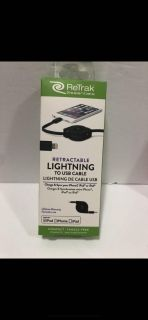 iPhone / iPad / iPod lightning retractable charge & sync cable