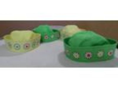 Floral Green; Yellow; Sailor Hats - fits kids and small