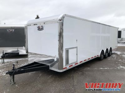 Vintage 32' Steel Pro Stock Race Trailer