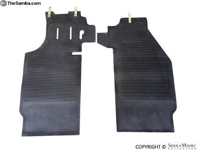 Front Rubber Floor Mats, OEM Style, 911/912 (65-68