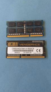 2x4gb ram for laptop. Unsure if working.