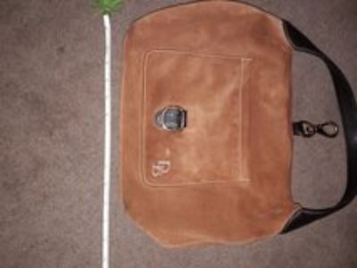brown suede authentic Dooney & Bourke purse