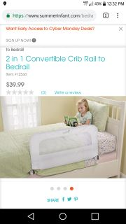 Summer Infant Convertible Bed Rail