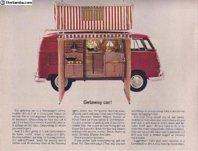 1963 4 Page Sales Brochure Campmobile Camper