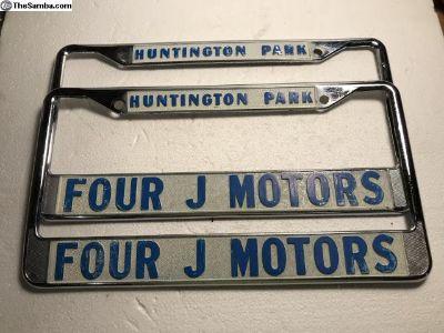 Huntington Park Four J Motors license plate frames