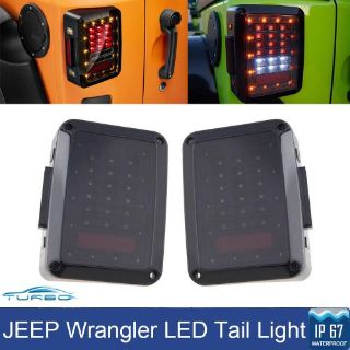 Purchase Pair Smoked 07-15 Jeep Wrangler LED Tail Lights Brake Reverse Turn Signal Lamps motorcycle in Red Lion, Pennsylvania, United States, for US $109.99