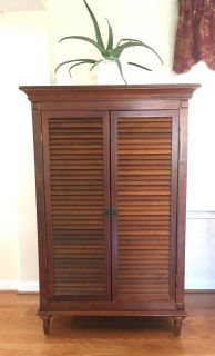 Solid wood storage armoire