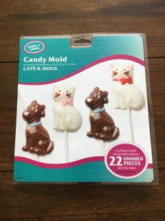 New Cats & Dogs Candy Taffy Mold