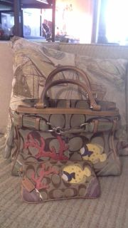 COACH PURSE WITH TROPICAL FISH