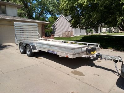 Aluma 18'-0 x 6'-6 all aluminum trailer
