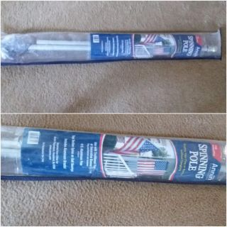 New spinning flag pole. No tangled flag! 6' long includes hardware. Xposted