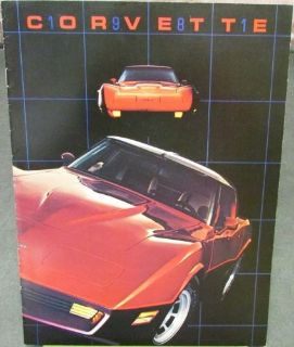 Purchase Original 1981 Chevrolet Corvette Dealer Sales Brochure Two-Tone Paint motorcycle in Holts Summit, Missouri, United States, for US $14.81