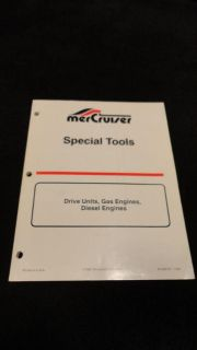 Buy 1994 MERCRUISER SPECIAL TOOLS #90-806737 DRIVE UNITS, GAS AND DIESEL ENGINES motorcycle in Gulfport, Mississippi, US, for US $49.95