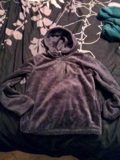 Girls size 8 old navy pullover hooded jacket soft velour