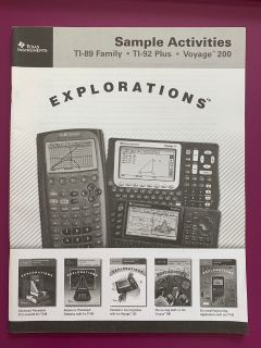 Book Texas instruments sample activities TI-92 Plus TI-89 Plus Families Voyage 200 Explorations
