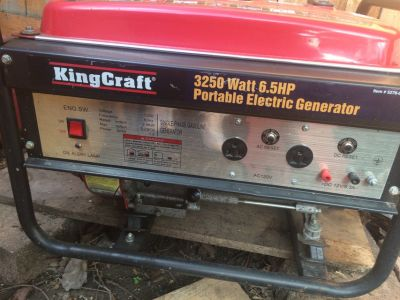 KingCraft Portable Generator 3250 W 6.5 Hp