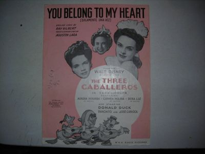 """You belong to my Heart"" 1941 Piano sheet music"