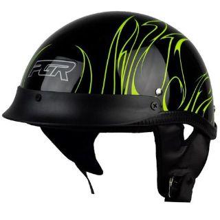 Buy L XL XXL PGR B31 CONVICT BLACK GREEN Motorcycle DOT Half Helmet Chopper SOFTAIL motorcycle in La Verne, California, US, for US $0.99