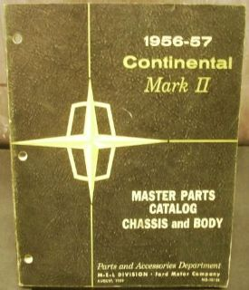 Sell Original 1956 1957 Lincoln Chassis & Body Parts Catalog Book Continental Mark II motorcycle in Holts Summit, Missouri, United States