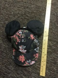 Disney Mickey Mouse custom made hat with ears, not professional but super cute, $3.00 in EUC, only wore to theme park one day.