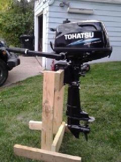 $900 OBO 2013 Tohatsu 4HP four-stroke outboard Motor